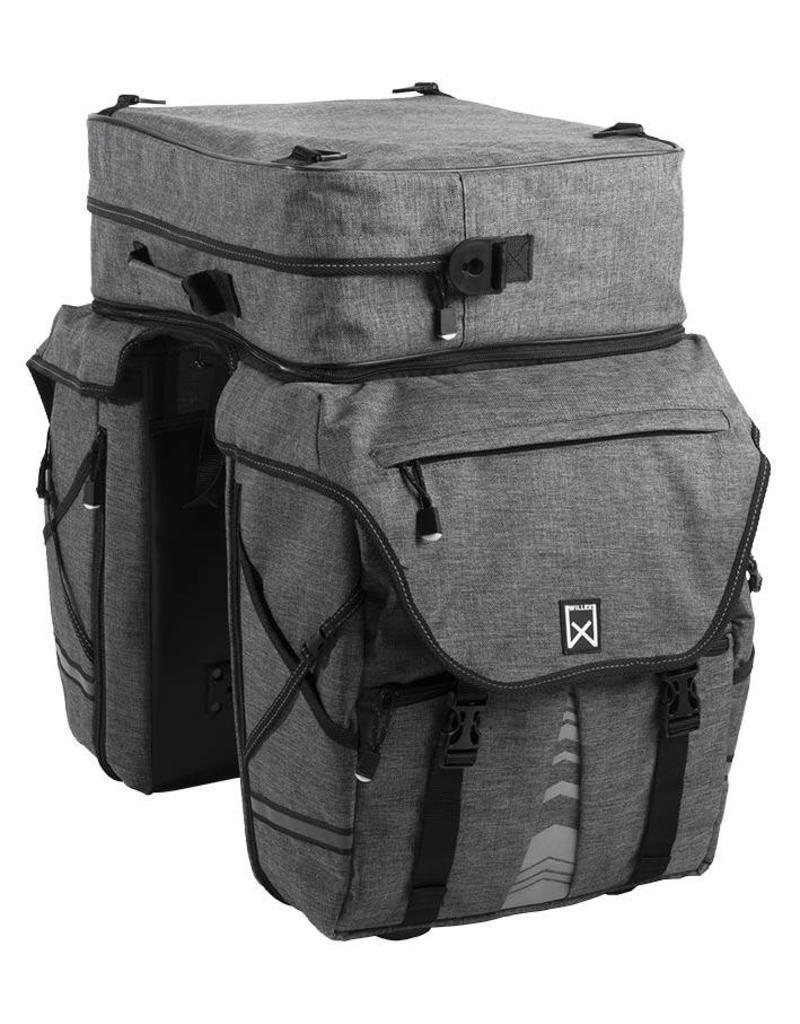 Willex bagagetas XL 1200 met bovenvak antraciet