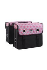 Willex dubbele tas Enchanting zwart/roze