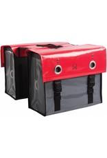 Willex dubbele bisonyl tas rood/donkergrijs 52L