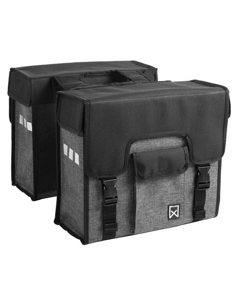 Willex dubbele shopper antraciet/zwart 38L