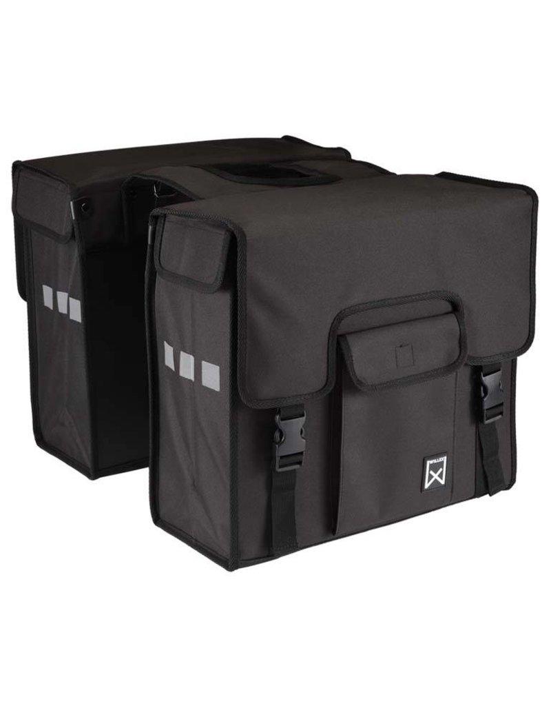 Willex dubbele shopper zwart 38L