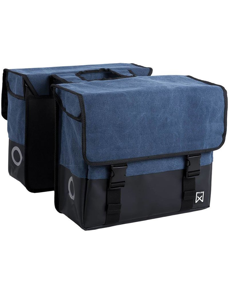 Willex dubbele canvas tas blauw/matzwart 48L