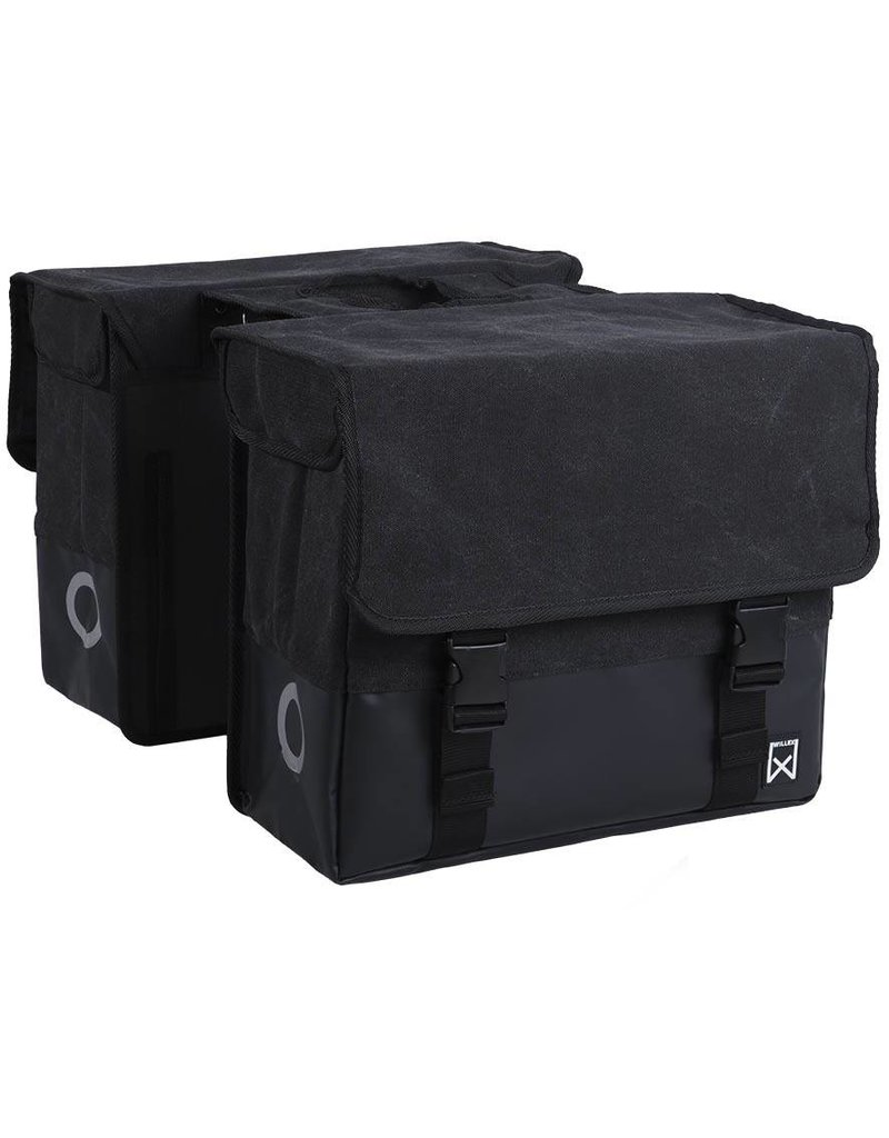Willex dubbele canvas tas zwart/matzwart 40L