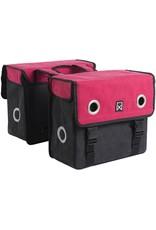 Willex dubbele canvas tas rood/zwart 30L