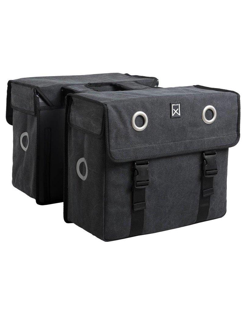 Willex dubbele canvas tas zwart 52L