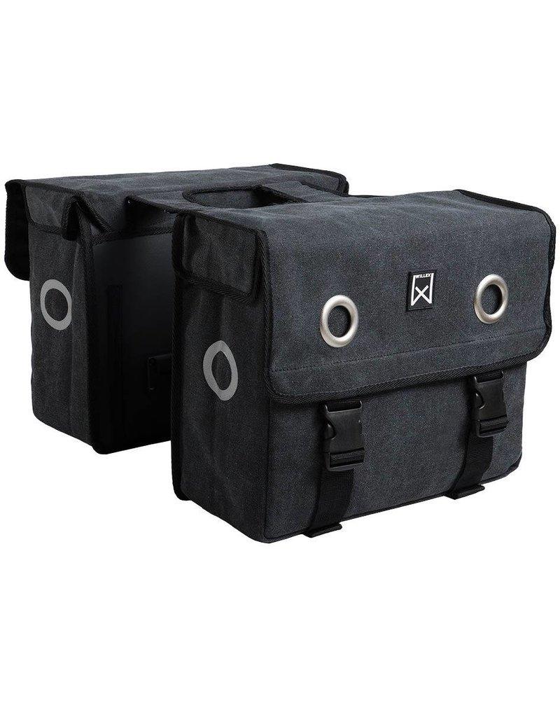 Willex dubbele canvas tas zwart 46L