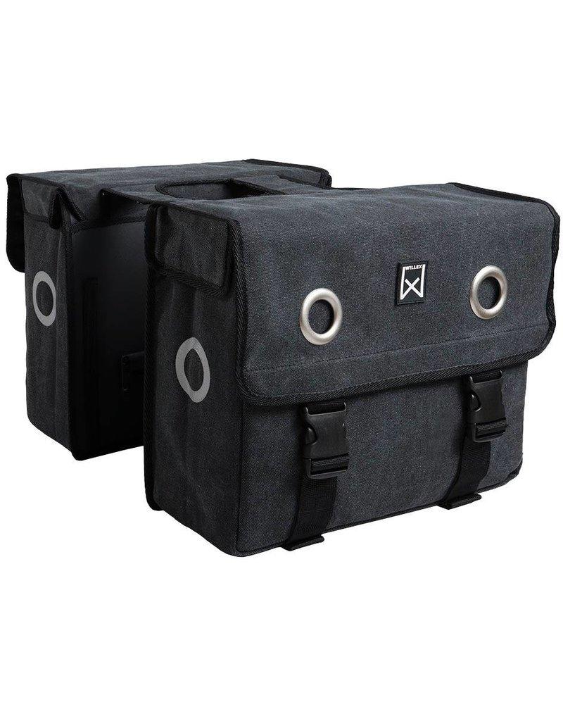 Willex dubbele canvas tas zwart 40L
