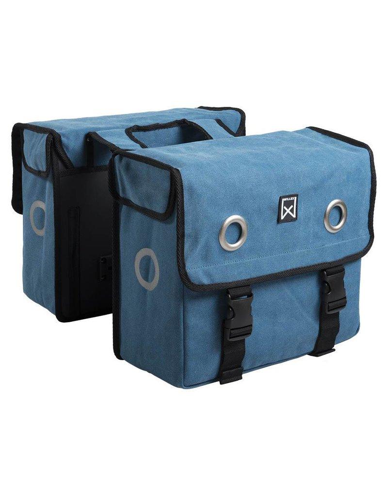 Willex dubbele canvas tas blauw 30L