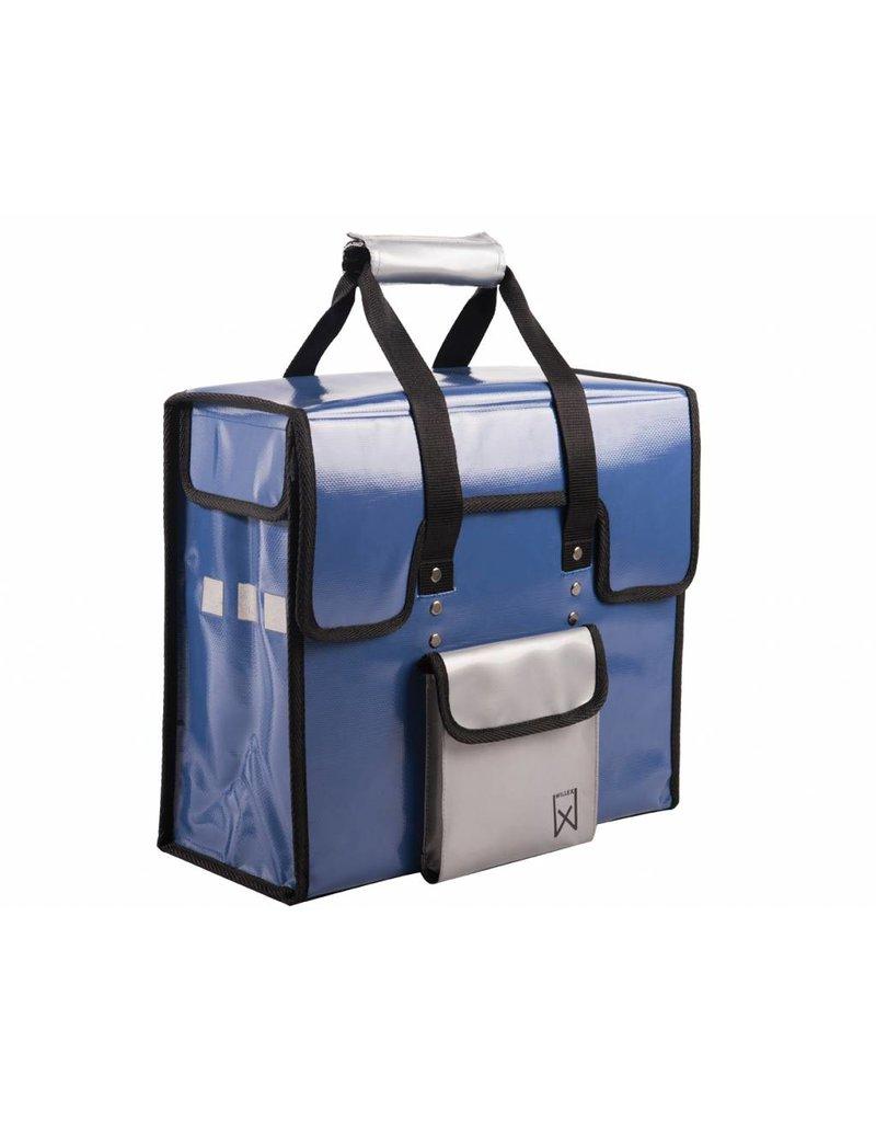 Willex shopper bisonyl blauw/zilver