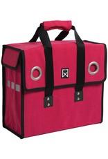 Willex shopper canvas rood