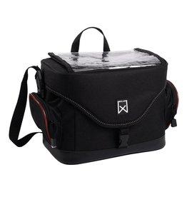 Willex stuurfietstas zwart/rood 10L