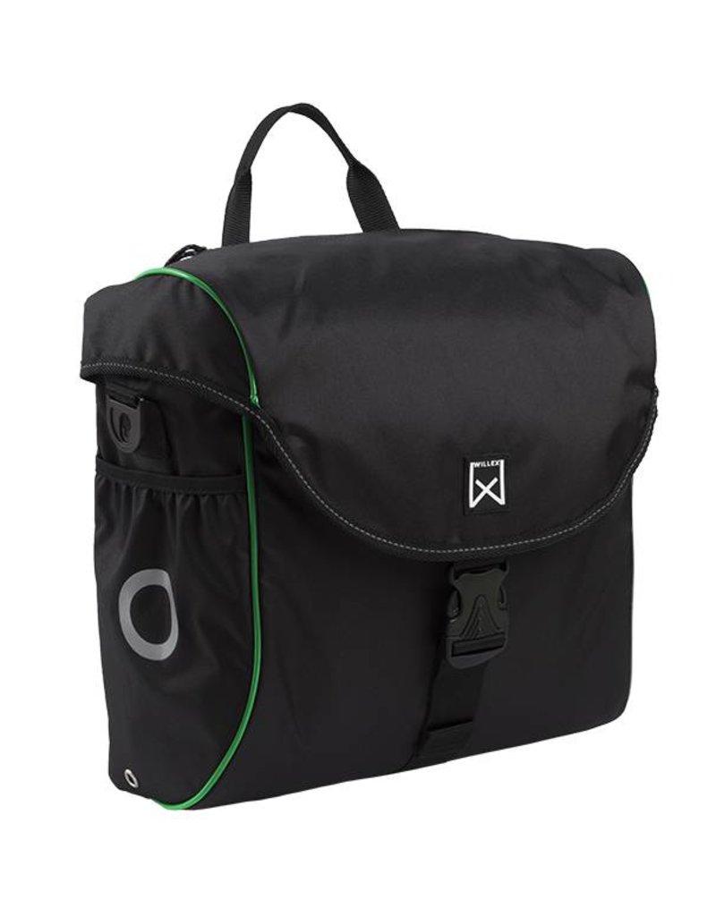 Willex pakaftas 300 zwart/groen 19L