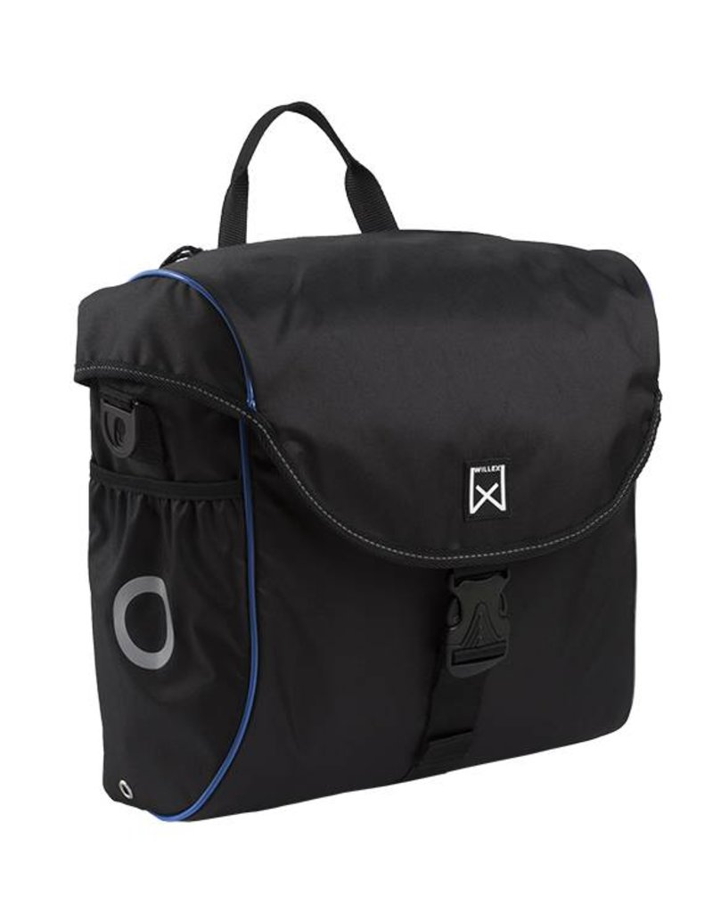 Willex pakaftas 300 zwart/blauw 19L