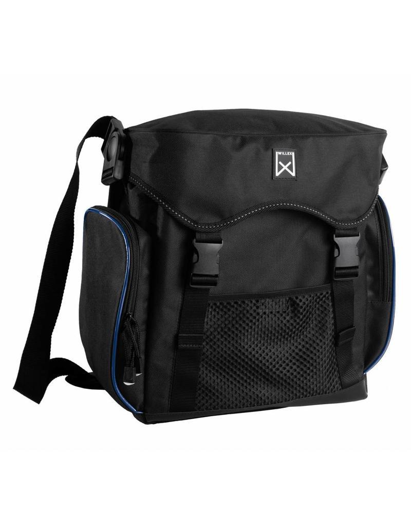 Willex pakaftas XL zwart/blauw 17L