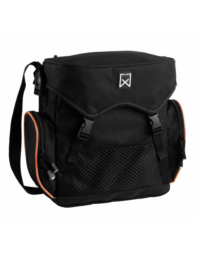 Willex pakaftas zwart/oranje 10L