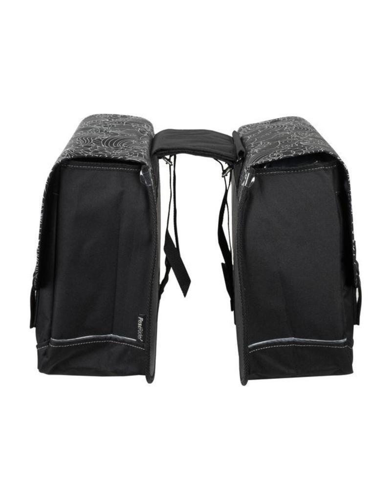 Fastrider dubbele tas VIVID zwart 31L