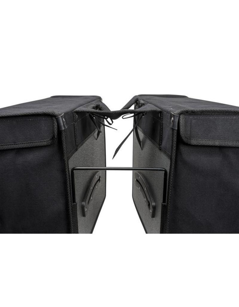 Fastrider dubbele fietstas CANVAS zwart 47L