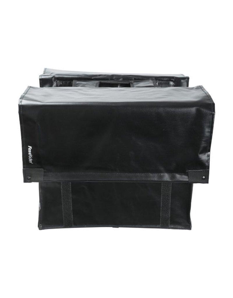 Fastrider dubbele tas LED CARGO zwart 46L