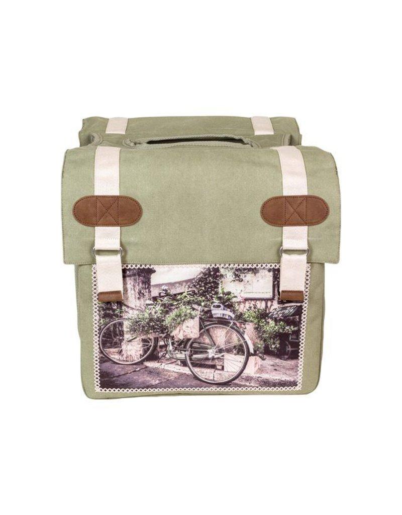 Fastrider dubbele fietstas CYCLO groen 30L