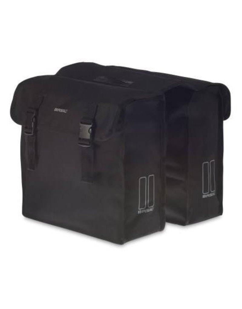 Basil Mara XL dubbele tas zwart 35L