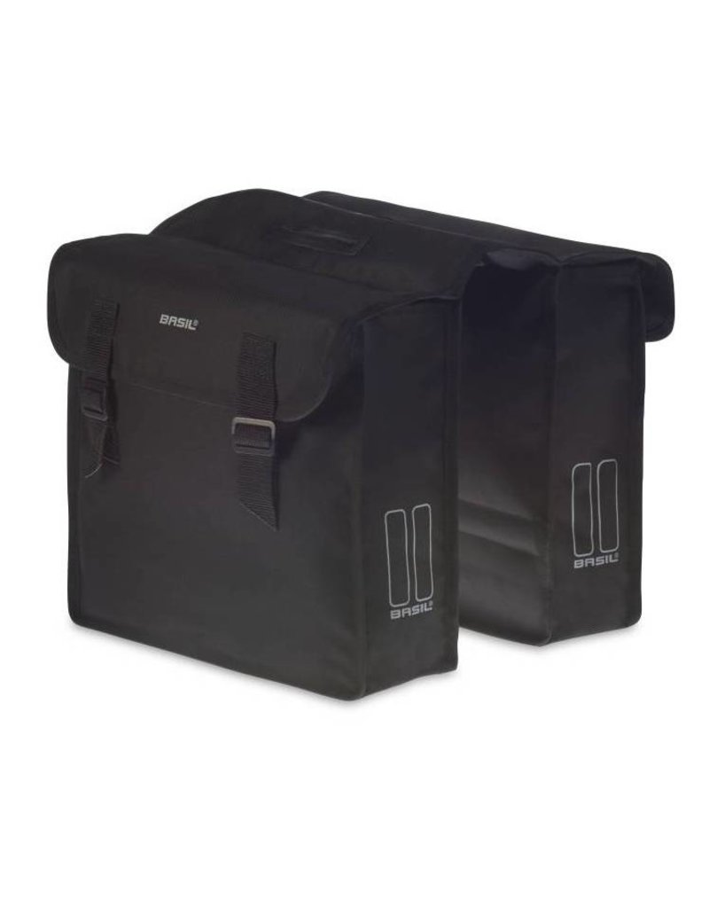 Basil Mara dubbele tas zwart 26L