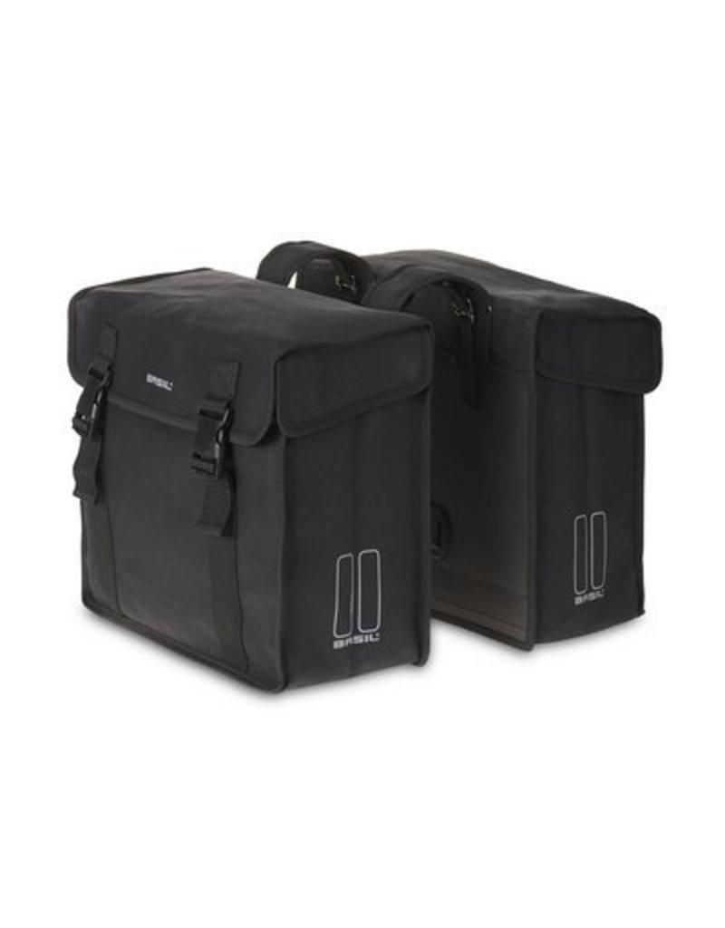 Basil Kavan dubbele tas zwart 45L