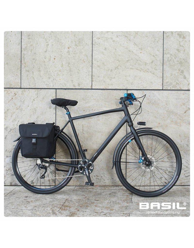 Basil GO dubbele tas solid black 32L