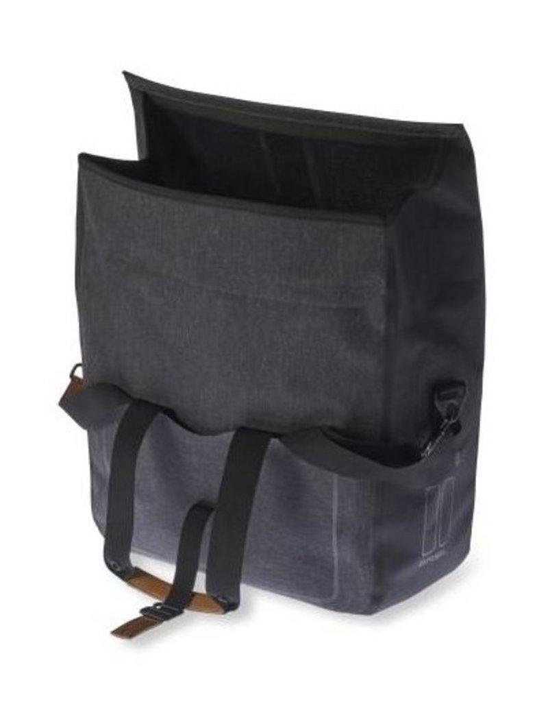 Basil Urban Dry Business Bag charcoal melee 20L