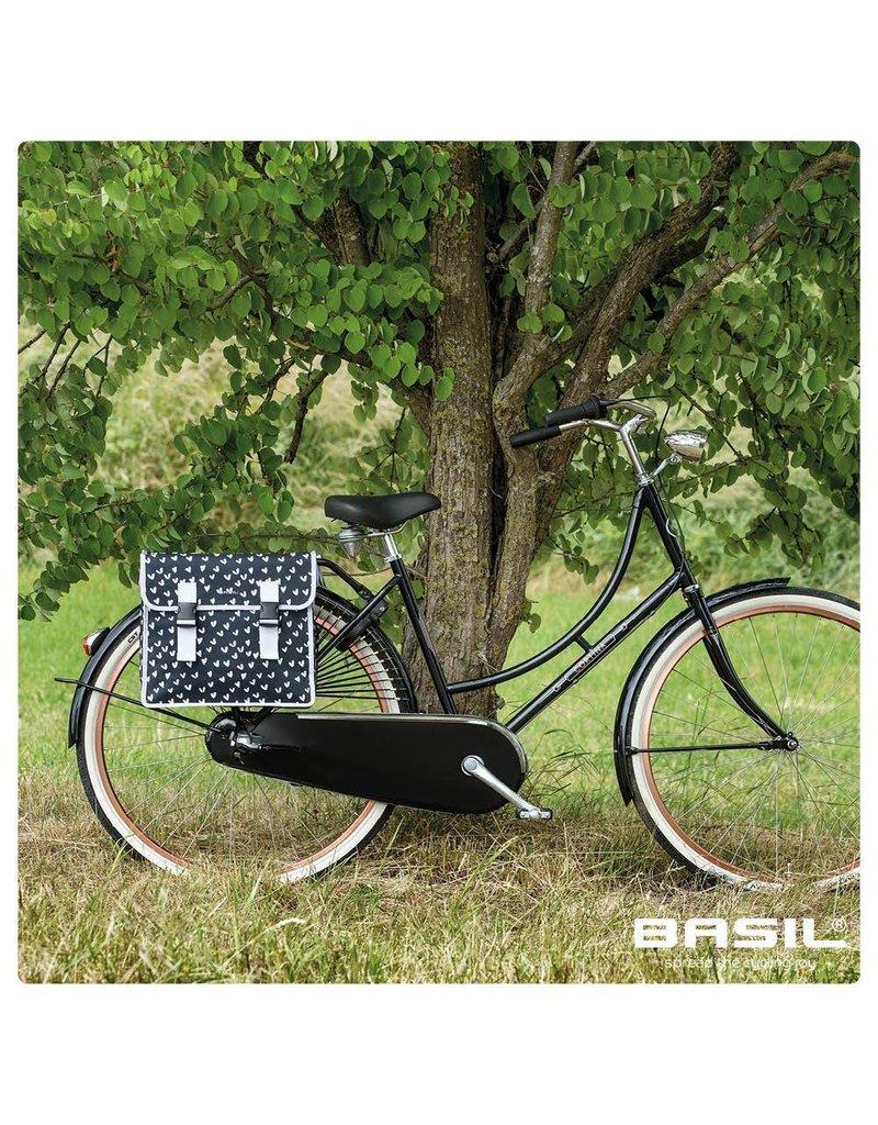 Basil Mara XL dubbele tas heart dots 35L