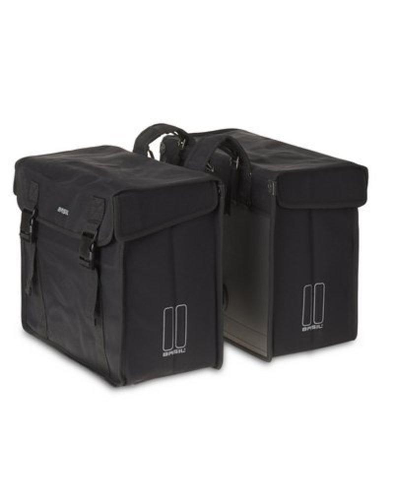 Basil Kavan XL dubbele tas zwart 65L