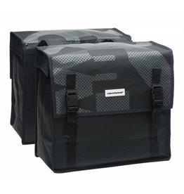 New Looxs Bisonyl Basic dubbele tas zwart/grijs 46L