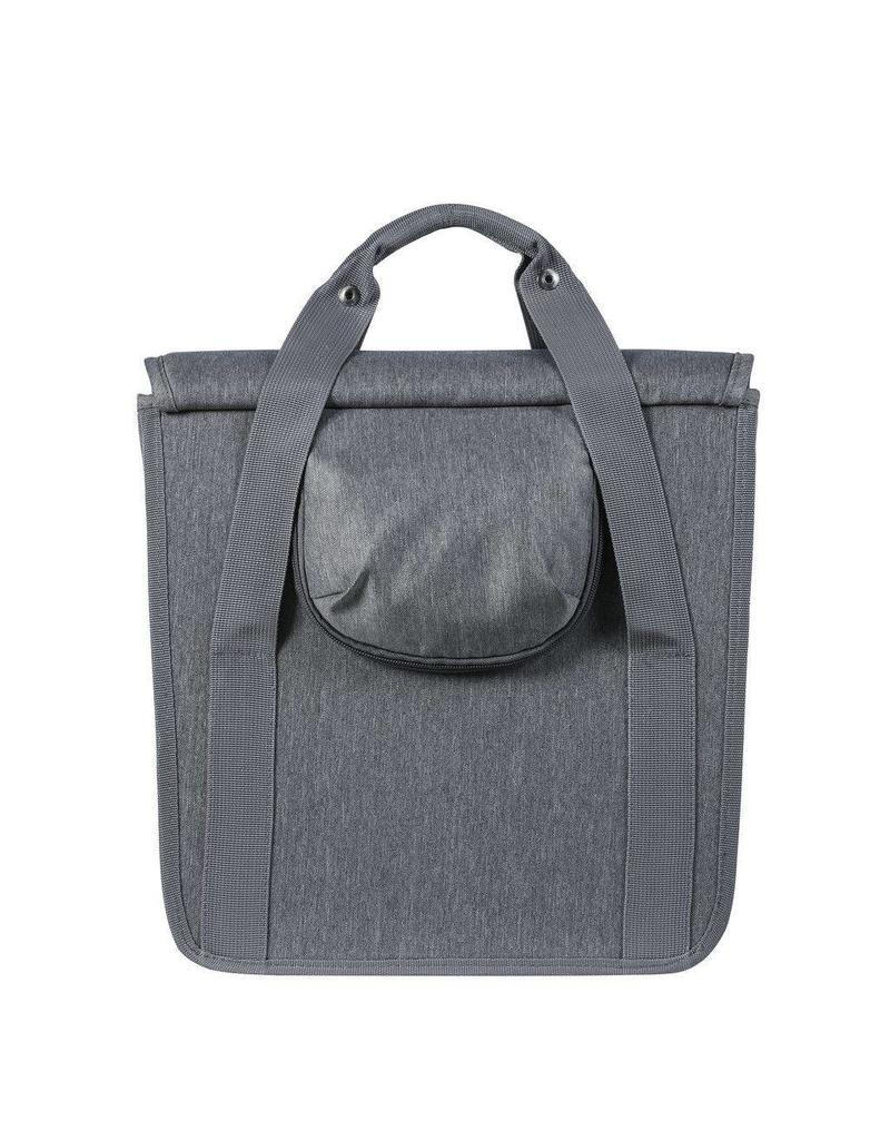 Basil Go Single Bag pakaftas grijs 16L