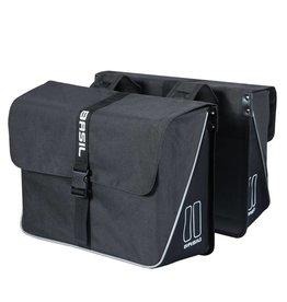 Basil Forte dubbele tas zwart/zwart 35L
