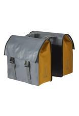 Basil Urban Load dubbele tas grijs/goudgeel 48-53L