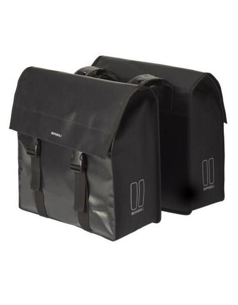Basil Urban Load dubbele tas zwart 48-53L