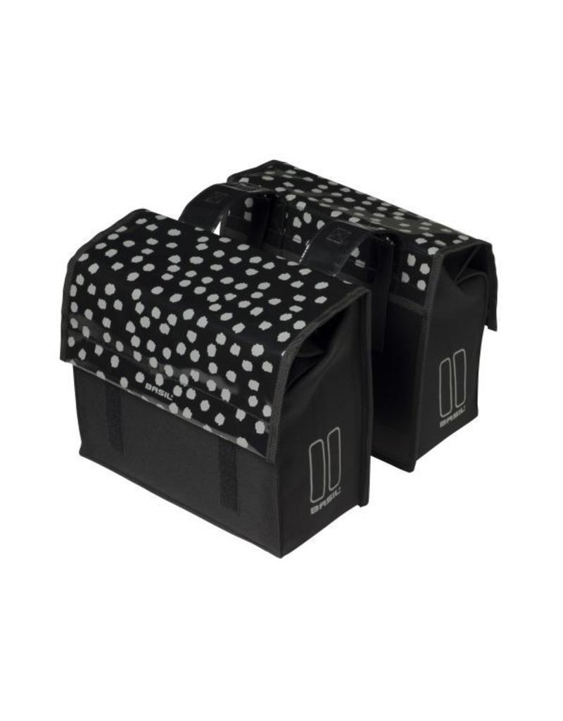 Basil Urban Load S dubbele tas zwart /reflecterend 25L