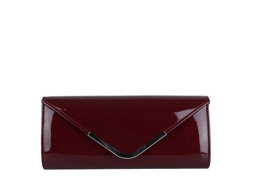 Clutch bag Sabella (burgundy)