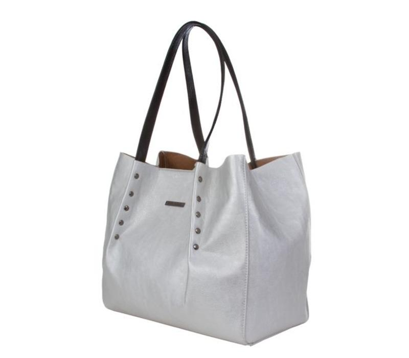 Shopping bag Joan (silver)