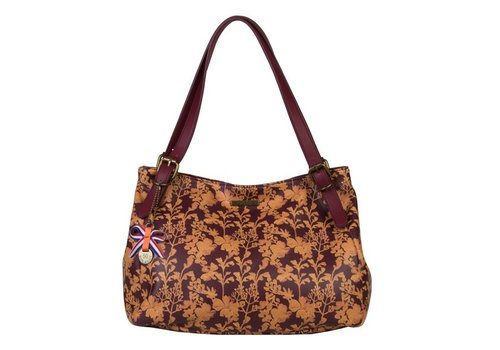 Shoulder bag Marcella (burgundy)