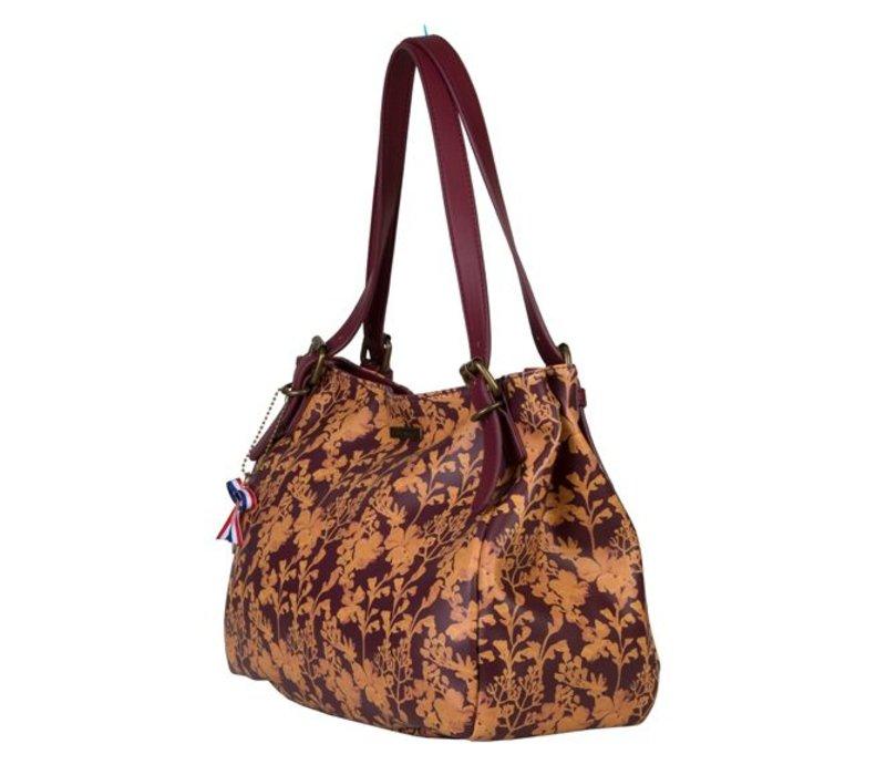 Shoulder bag Marcella (burgundy)