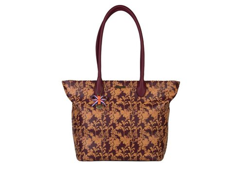 Shopping bag Marcella (burgundy)