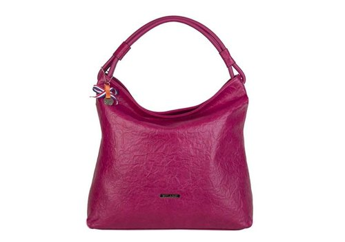 Hobo Shoulder bag Sabrina (fuchsia)