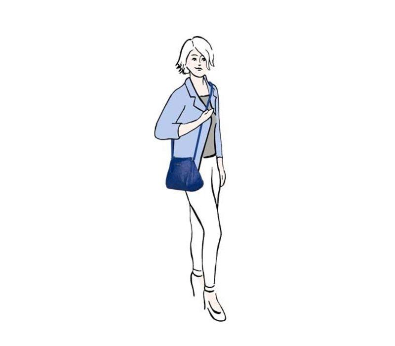 Cross body bag Sabrina (cobalt blue)