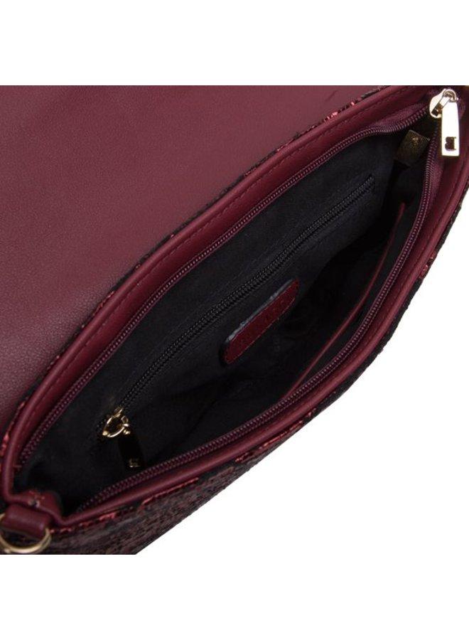 Clutch bag Calla (burgundy red)