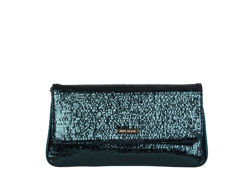 Clutch bag Calla (emerald green)