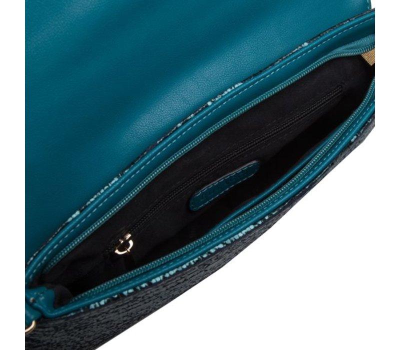 Clutch bag Calla (emerald green)