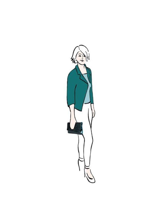 Clutch Calla (smaragd groen)