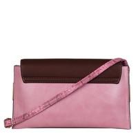Clutch bag Fleur (brown/pink)