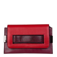 Clutch bag Fleur (burgundy red)