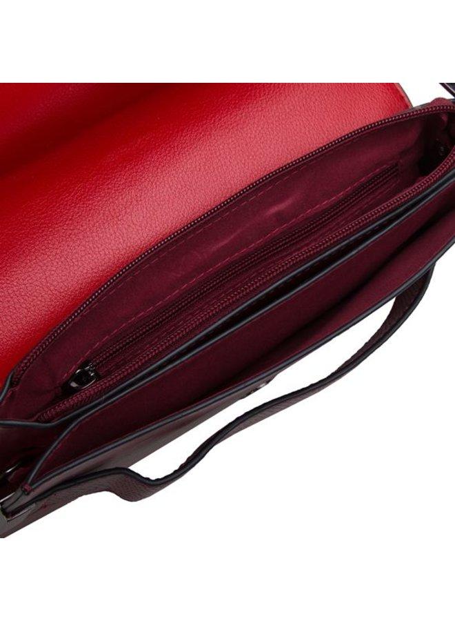 Clutch bag Fleur (burgundy red)